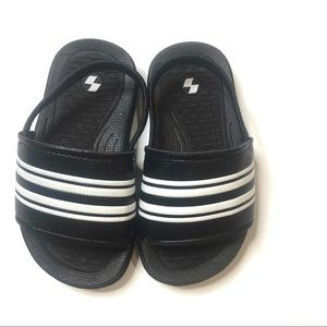 Children's Place Black Striped Sandals
